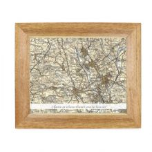 Postcode Map 10x8 Wooden Photo Frame - Revised New With Message